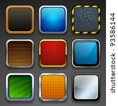 app buttons | Shutterstock .eps vector #93586144