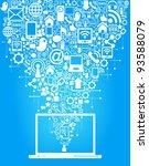 social media  communication in... | Shutterstock .eps vector #93588079