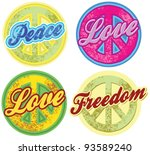 stamp peace symbol