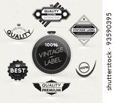 vintage styled premium quality... | Shutterstock .eps vector #93590395