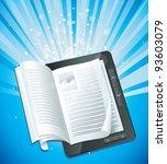 electronic book concept  ... | Shutterstock .eps vector #93603079