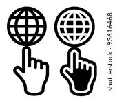 Vector Hand And Globe Black...