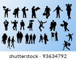 group of people's shapes | Shutterstock . vector #93634792