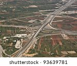 aerial view of a highway in... | Shutterstock . vector #93639781
