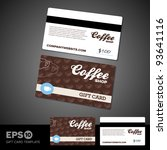 coffee shop cafe gift card... | Shutterstock .eps vector #93641116