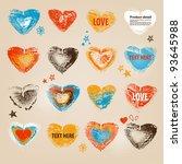 grunge hearts romantic set
