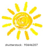 Drawing Of Sun. Vector...
