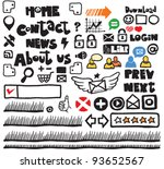 menu and icon for web | Shutterstock .eps vector #93652567
