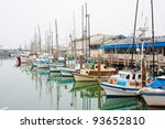 fishing boats at fisherman's...   Shutterstock . vector #93652810