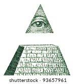 dollar pyramid on white... | Shutterstock . vector #93657961
