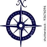vintage grunge compass | Shutterstock .eps vector #93676096