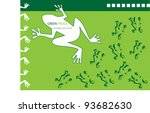 funny vector background with... | Shutterstock .eps vector #93682630