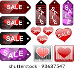 sale labels  valentines day... | Shutterstock .eps vector #93687547