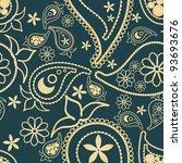paisley pattern | Shutterstock .eps vector #93693676