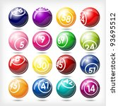 art illustration of set bingo... | Shutterstock .eps vector #93695512