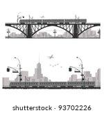 vector illustration.city scape... | Shutterstock .eps vector #93702226