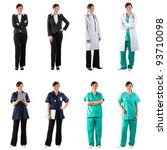 different poses of the same...   Shutterstock . vector #93710098