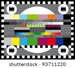 color card. test tv screen ... | Shutterstock .eps vector #93711220