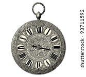 Stock vector clock vintage engraved illustration l industrie et l art d coratif aux deux derniers si 93711592