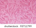 pink fabric with floral... | Shutterstock . vector #93711799