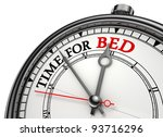 time for bed concept clock... | Shutterstock . vector #93716296