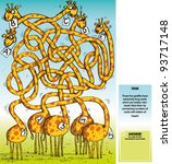Five Giraffes Maze Game