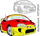 vector    rally car tuning... | Shutterstock .eps vector #93719914