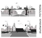 vector illustration.city... | Shutterstock .eps vector #93725056