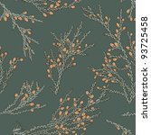 vintage pattern with junipers | Shutterstock .eps vector #93725458