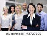 mature businesswoman and... | Shutterstock . vector #93727102