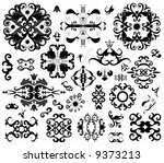 many ornament decorative... | Shutterstock . vector #9373213