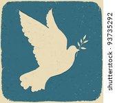 Dove Of Peace. Retro Styled...
