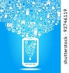 social media  communication in... | Shutterstock .eps vector #93746119
