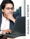 thoughtful indian businessman... | Shutterstock . vector #93748549