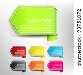 vector tag arrow label with... | Shutterstock .eps vector #93751072