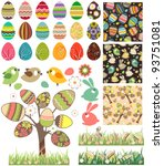 big easter set with traditional ... | Shutterstock .eps vector #93751081