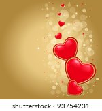 illustration of valentine heart ... | Shutterstock .eps vector #93754231