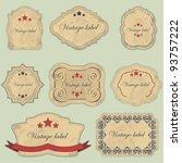 vintage labels set   vector... | Shutterstock .eps vector #93757222
