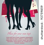 Legs And Bags  Vector Image Of...