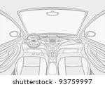 inside car | Shutterstock .eps vector #93759997