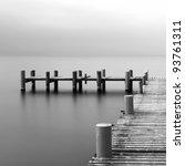 Calm Scene In Black And White...