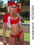 sexy baseball girl | Shutterstock . vector #93762004