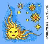 vector illustration of sun | Shutterstock .eps vector #93763246