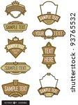 set of 9 label or emblem vectors | Shutterstock .eps vector #93765532