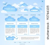 Web Site. Weather Theme. Vector