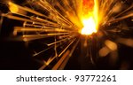 close up view of lit up holiday ... | Shutterstock . vector #93772261