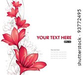 Stock vector red lilies design vector illustration eps 93772495