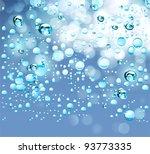 blue water drops background.... | Shutterstock .eps vector #93773335