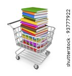 Shopping Cart With Book. Image...