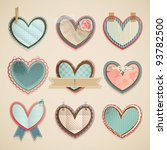 valentine s day scrapbooking... | Shutterstock .eps vector #93782500